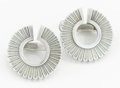 Silver Smalls:Other , A PAIR OF DANISH SILVER EARRINGS. Georg Jensen, Copenhagen,Denmark, circa 1960. Marks: GEORG JENSEN, STERLING, DENMARK,9... (Total: 2 Items)