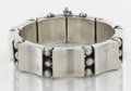 Silver Smalls:Other , A MEXICAN SILVER BRACELET. Héctor Aguilar, Taxco, Mexico, circa1940. Marks: HA, 940, TAXCO. 7-1/2 long x 0-3/4 inches w...
