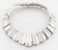 Silver Smalls:Other , A MEXICAN SILVER NECKLACE. Antonio Pineda, Taxco, Mexico, circa1955. Marks: (Antonio crown), (eagle 17). 16 inches long (40...