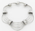 Silver Smalls:Other , A MEXICAN SILVER NECKLACE . Antonio Pineda, Taxco, Mexico, circa1955. Marks: (Antonio crown), SILVER, HECHO EN MEXICO, ...