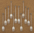 Silver & Vertu:Flatware, A SET OF TWELVE COCKTAIL FORKS. Gorham Manufacturing Co., Providence, Rhode Island, circa 1870. Marks: (lion-anchor-G), ST... (Total: 12 Items)