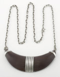 Silver Smalls:Other , A MEXICAN SILVER AND WOOD NECKLACE. William Spratling, Taxco,Mexico, circa 1940. Marks: WS, SPRATLING MADE INMEXICO,...