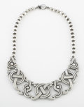 Silver Smalls:Other , A MEXICAN SILVER NECKLACE. William Spratling, Taxco, Mexico,1939-40. Marks: WS, TAXCO, 980 . 19 inches long(48...