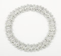 Silver Smalls:Other , A MEXICAN SILVER NECKLACE. Maker unknown, Taxco, Mexico, circa1940. Marks: TAXCO, 980. 16-1/2 inches long (41.9 cm). 3....