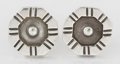 Silver Smalls:Other , A PAIR OF MEXICAN SILVER EARRINGS. William Spratling, Taxco,Mexico, circa 1940. Marks: SPRATLING SILVER, MADE INMEXICO... (Total: 2 Items)