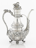 Silver Holloware, American:Coffee Pots, AN AMERICAN SILVER COFFEE POT. Shreve & Co., San Francisco,California, circa 1865. Marks: SHREVE & CO., STERLING, SANFRA...