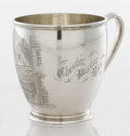 Silver Holloware, American:Cups, AN AMERICAN SILVER CUP. Maker unknown, circa 1872. Marks: 925,STERLING. 3-3/4 x 4-3/4 x 3-1/2 inches (9.5 x 12.1 x 8.9 ...