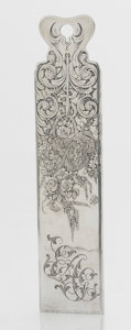 Silver Flatware, American:Tiffany, AN AMERICAN SILVER CHECK CUTTER. Tiffany & Co., New York, NewYork, circa 1870. Marks: TIFFANY & CO., STERLING, 657,M. ...