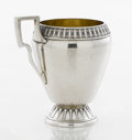Silver Holloware, American:Cups, AN AMERICAN COIN SILVER AND SILVER GILT CUP. Gorham Manufacturing Co., Providence, Rhode Island, circa 1865. Marks: (lion-an...