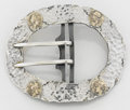 Silver Smalls:Other , AN AMERICAN SILVER, SILVER GILT AND 14K YELLOW GOLD BUCKLE. GeorgeW. Shiebler & Co., New York, New York, circa 1880. Marks:...(Total: 2 Items)