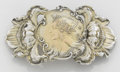 Silver Smalls:Other , AN AMERICAN SILVER AND 14K YELLOW GOLD BELT BUCKLE. George W.Shiebler & Co., New York, New York, circa 1890. Marks:(winged... (Total: 2 Items)