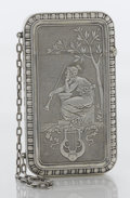 Silver Smalls:Other , AN AMERICAN SILVER CARD CASE. Whiting Manufacturing Co., New York,New York, circa 1870. Marks: (griffin with w), STERLING...