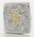 Silver Smalls:Cigarette Cases, AN AMERICAN SILVER AND SILVER GILT CIGARETTE CASE. Unger Brothers,Newark, New Jersey, circa 1905. Marks: UB, STERLING 925...