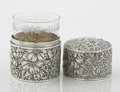 Silver Holloware, American:Boxes, AN AMERICAN SILVER CYLINDRICAL BOX. Gorham Manufacturing Co.,Providence, Rhode Island, 1892. Marks: (lion-anchor-G),STER...