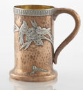 Silver Holloware, American:Cups, AN AMERICAN COPPER AND SILVER HANDLED CUP. Gorham ManufacturingCo., Providence, Rhode Island, circa 1880. Marks: GORHAM&...