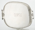 Silver Holloware, Continental:Holloware, A GERMAN SILVER TRAY. Gebruder Friedländer, Berlin, Germany, circa1900. Marks: GEBR. FRIEDLÄNDER, (crown), 800, H. ...