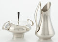 Silver Holloware, American:Creamers and Sugars, AN AMERICAN SILVER SUGAR BOWL AND CREAMER. Gorham Manufacturing Co., Providence, Rhode Island, 1966. Designed by Donald Colf... (Total: 2 Items)