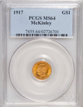Commemorative Gold, 1917 G$1 McKinley MS64 PCGS....