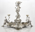 Silver & Vertu:Hollowware, A CONTINENTAL SILVER PLATED FIGURAL CENTERPIECE. attributed to Christofle, Paris, France, circa 1890. Marks: unmarked. 28-1/...