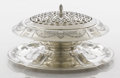 Silver & Vertu:Hollowware, AN AMERICAN SILVER AND SILVER PLATE CENTER PIECE WITH STAND. Gorham Manufacturing Co., Providence, Rhode Island, circa 1914-... (Total: 3 Items)