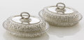 Silver Holloware, American:Entrée Dishes, A PAIR OF AMERICAN SILVER COVERED CONVERTIBLE ENTRÉESERVERS. Tiffany & Co., New York, New York, circa 1865-1870...(Total: 2 Items)