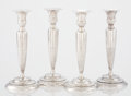Silver Holloware, American:Candle Sticks, A SET OF AMERICAN SILVER CANDLESTICKS. Theodore B. Starr, New York, New York, circa 1910. Marks: THEODORE B. STARR, NEW YO... (Total: 4 Items)