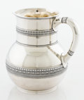 Silver Holloware, American:Pitchers, AN AMERICAN SILVER WATER PITCHER. Tiffany & Co., New York, NewYork, circa 1877. Marks: TIFFANY & CO., 4706 MAKERS 8133,S...