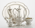 Silver Holloware, American:Tea Sets, AN AMERICAN SILVER DEMITASSE COFFEE SET WITH TRAY. GorhamManufacturing Co., Providence, Rhode Island, 1900-1910. Marks:(li... (Total: 4 Items)