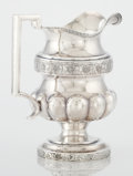 Silver Holloware, American:Coin Silver, AN AMERICAN COIN SILVER PITCHER. William B. Heyer, New York, NewYork, circa 1805-1809. Marks: W.B. HEYER, H&N. 8-5/8in...
