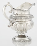 Silver Holloware, American:Coin Silver, AN AMERICAN COIN SILVER CREAM PITCHER. Garret Eoff, New York, NewYork, circa 1805-1845. Marks: G.EOFF. 7-3/8 inches (18...