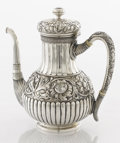 Silver Holloware, American:Coffee Pots, AN AMERICAN SILVER COFFEE POT. Tiffany & Co., New York, NewYork, circa 1870-1875. Marks: TIFFANY & CO., 3790 MAKERS7583,...