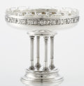 Silver & Vertu:Hollowware, AN AUSTRIAN SILVER AND GLASS CENTERPIECE. F. Rothe, Vienna, Austria, circa 1900-1922. Marks: (Diana head, 3, A), FR. 7-3...
