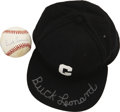Autographs:Others, Buck Leonard Single Signed Ball And Cap. ... (Total: 2 items)