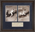 Autographs:Checks, Babe Ruth Signed Check Framed With Photograph....