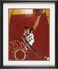 Basketball Collectibles:Others, Tim Duncan Signed Oversized Photograph. ...