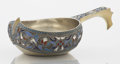 Silver Holloware, Continental:Holloware, A RUSSIAN SILVER GILT CLOISONNÉ ENAMEL KOVSH. Makerunidentified, Moscow, Russia, 1895. Marks: LO (in Cyrill...