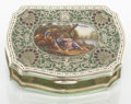 Silver Smalls:Other , AN AUSTRIAN SILVER GILT AND ENAMEL BOX. Maker unknown, circa 1930.Marks: MADE IN AUSTRIA, STERLING SILVER, 935. 0-3/8...