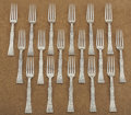 Silver Flatware, American:Tiffany, A SET OF SEVENTEEN AMERICAN SILVER BREAKFAST FORKS. Tiffany &Co., New York, New York, circa 1872. Marks: TIFFANY & CO.,S... (Total: 17 Items)
