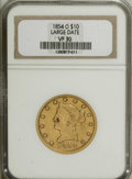 Liberty Eagles: , 1854-O $10 Large Date VF30 NGC. NGC Census: (1/139). PCGSPopulation (1/68). (#98614)...