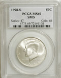 SMS Kennedy Half Dollars: , 1998-S 50C SMS MS69 PCGS. PCGS Population (1350/146). NGC Census: (553/187). Numismedia Wsl. Price for NGC/PCGS coin in MS...