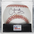 Autographs:Baseballs, Curt Schilling Single Signed Baseball, PSA Mint+ 9.5. A WorldSeries hero for both the Red Sox and D'Backs, Schill has earne...