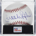 Autographs:Baseballs, Brooks Robinson Single Signed Baseball, PSA Mint 9. From the handof the Human Vacuum Cleaner Brooks Robinson we offer this ...