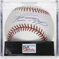 Autographs:Baseballs, Vladimir Guerrero Single Signed Baseball, PSA Mint 9. Vladdy offersa great sweet spot single on this clean OML baseball. B...