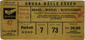 Music Memorabilia:Tickets, Beatles German Concert Ticket. A ticket from the Beatles' June 25,1966 concert at the Grugahalle in Essen, the second of t...