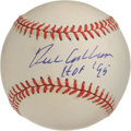 "Autographs:Baseballs, Richie Ashburn ""HOF '95"" Single Signed Baseball. While the ONL(Coleman) baseball's surface has become affected by the crea..."