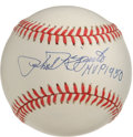 "Autographs:Baseballs, Phil Rizzuto ""MVP 1950"" Single Signed Baseball. Flawless executionof the Hall of Famer Phil Rizzuto's signature appears on..."