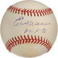 "Autographs:Baseballs, Earl Weaver ""HOF 96"" Single Signed Baseball. Despite never playingat the major league level, Earl Weaver went on to become..."