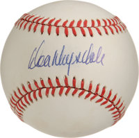 Don Drysdale Single Signed Baseball. Part of the most-feared pitching tandem of his era with lefty counterpart Sandy Kou...