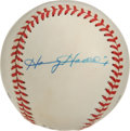 Autographs:Baseballs, Harvey Haddix Single Signed Baseball. Clean ONL (White) baseball brings us a neat side panel signature courtesy of the Pira...