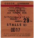 Music Memorabilia:Tickets, Beatles London Concert. A used ticket to their March 29, 1963,performance at the Odeon Theatre in Lewisham, London, in supp...